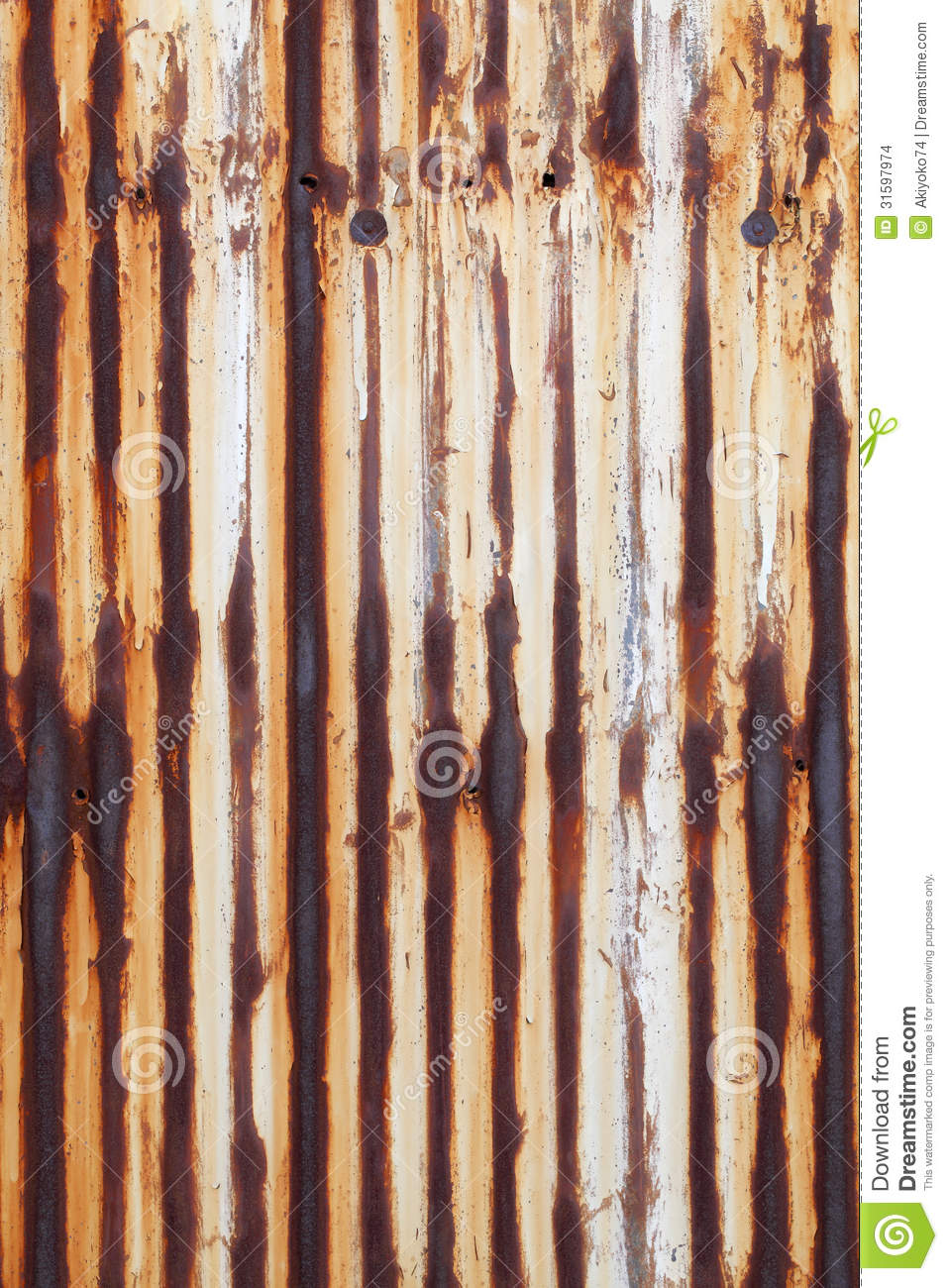 Rusted Corrugated Metal Royalty Free Stock Photo