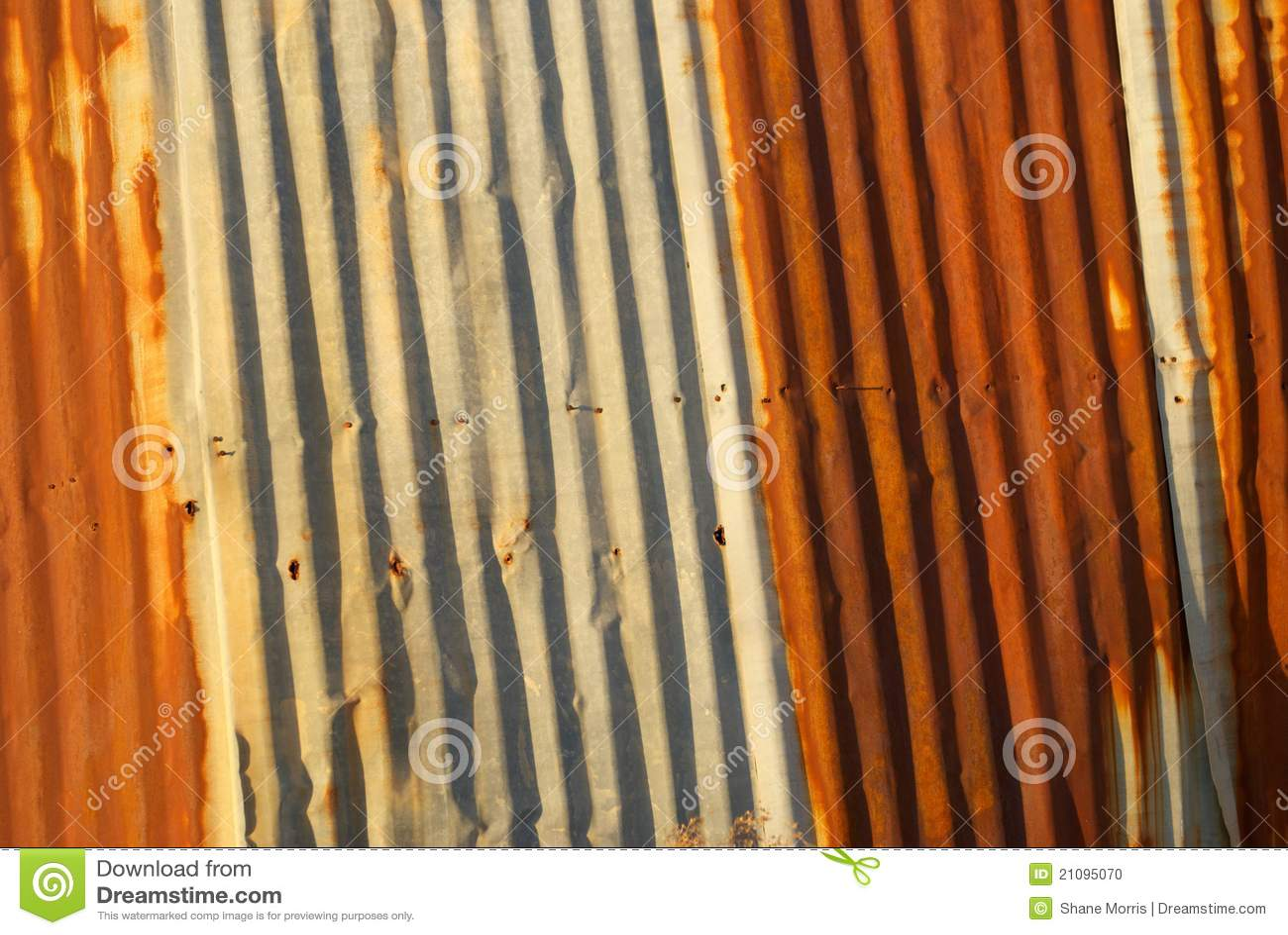 Rusted Corrugated Metal Siding Stock Photo Image 21095070