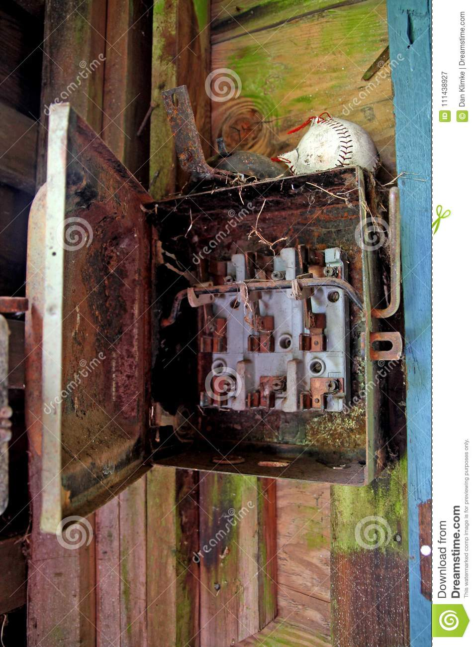 Rusted electrical panel stock image. Image of dilapidated ... on household breaker panel, house electrical transformer, home circuit panel, house electrical installation, house electrical box, house electrical wire, house electrical conduit, wiring a breaker panel, house wiring, house siding,