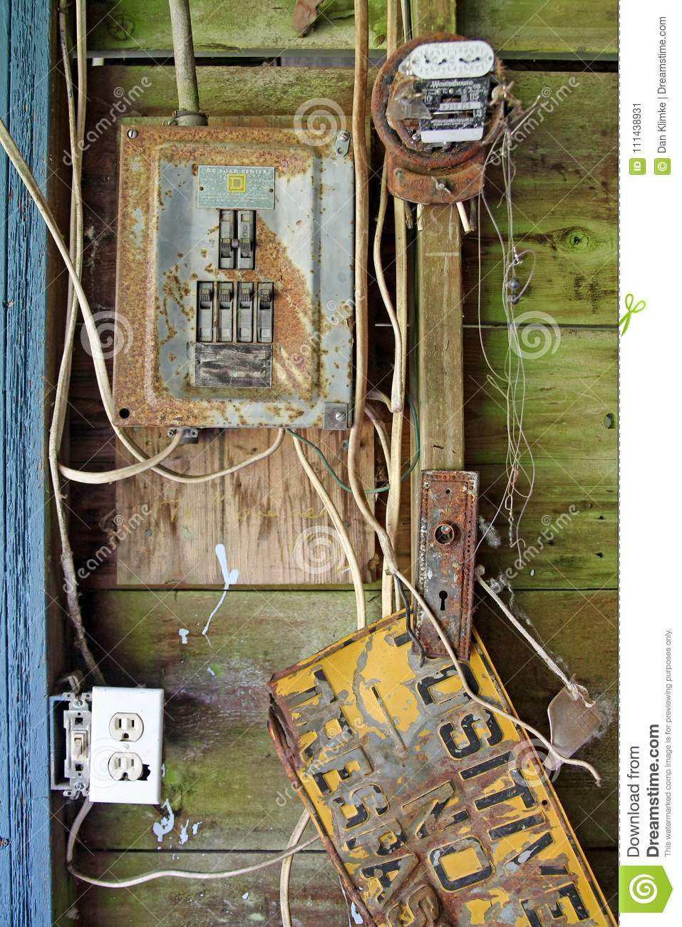 Old House Electrical Panel Wiring Diagrams Home Rusted Editorial Photo Image Of Electric 111438931 2wire A