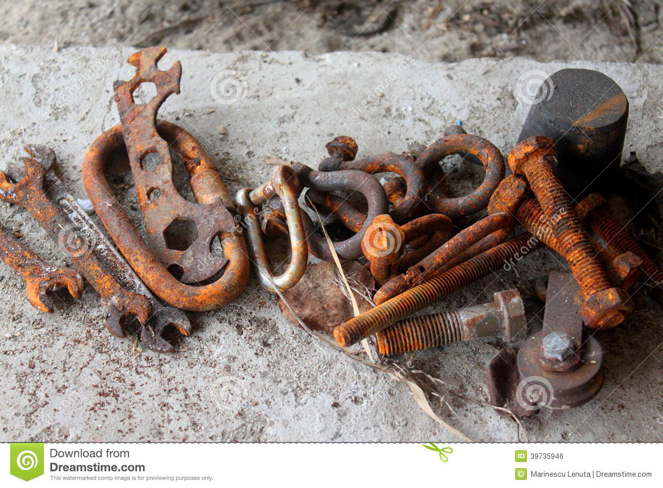Download Rusted iron tools stock photo. Image of corrosion, metallic - 39735946
