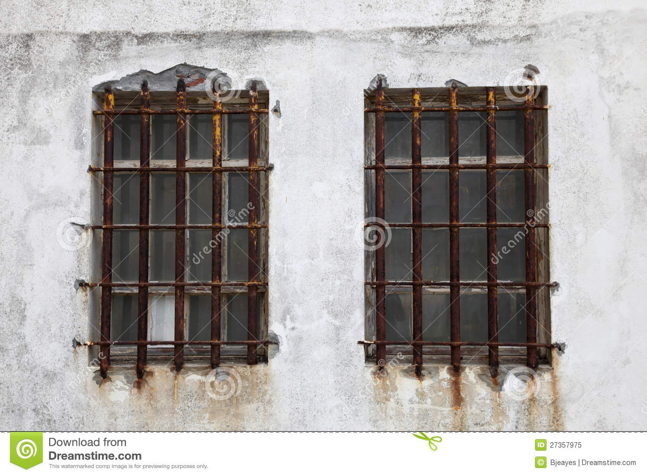 Rusted Iron Window Bars Stock Image Image Of Peniche