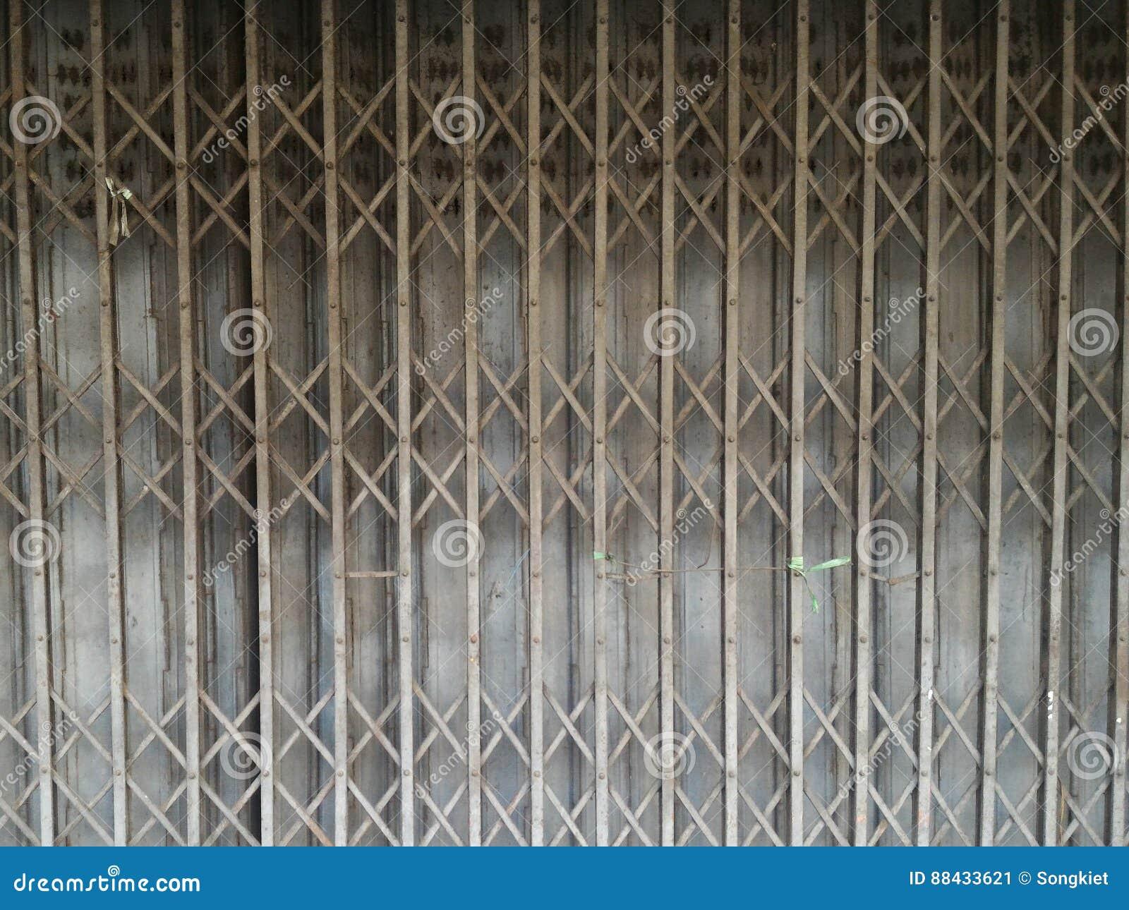 Rusted Metal Folding Door stock image. Image of sliding - 88433621