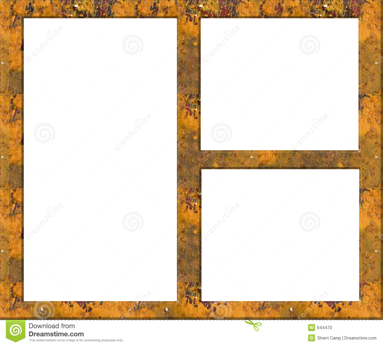 Rusted Metal Grunge Picture Frame - Empty Stock Illustration ...