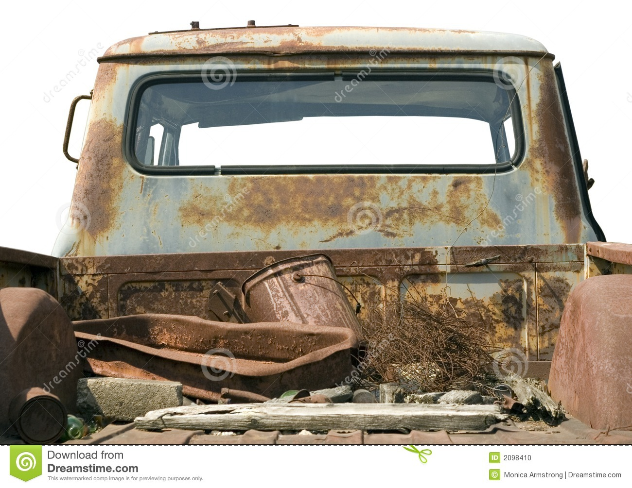 Rusted Truck Bed Stock Image