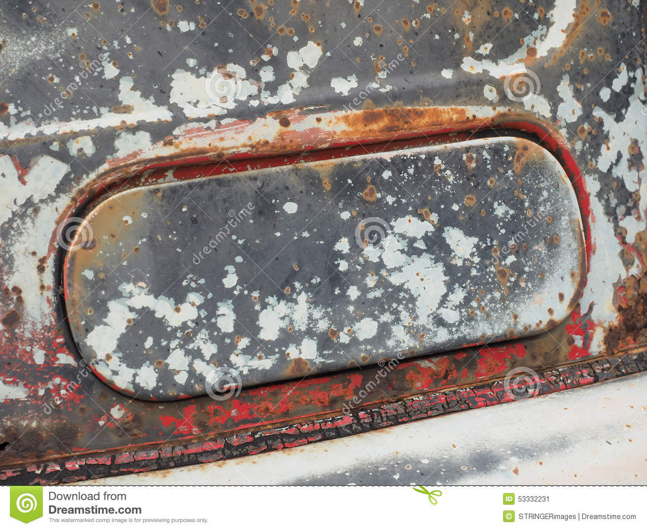 rusted and weathered air intake flap of a rotten old truck stock photo image 53332231. Black Bedroom Furniture Sets. Home Design Ideas