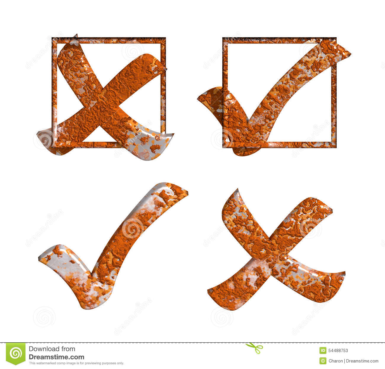 Rust yes no tick cross with box stock image illustration of rust yes no tick cross with box biocorpaavc Gallery