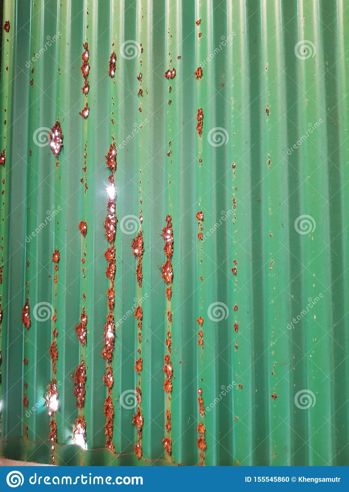 Rusted zinc wall,long time