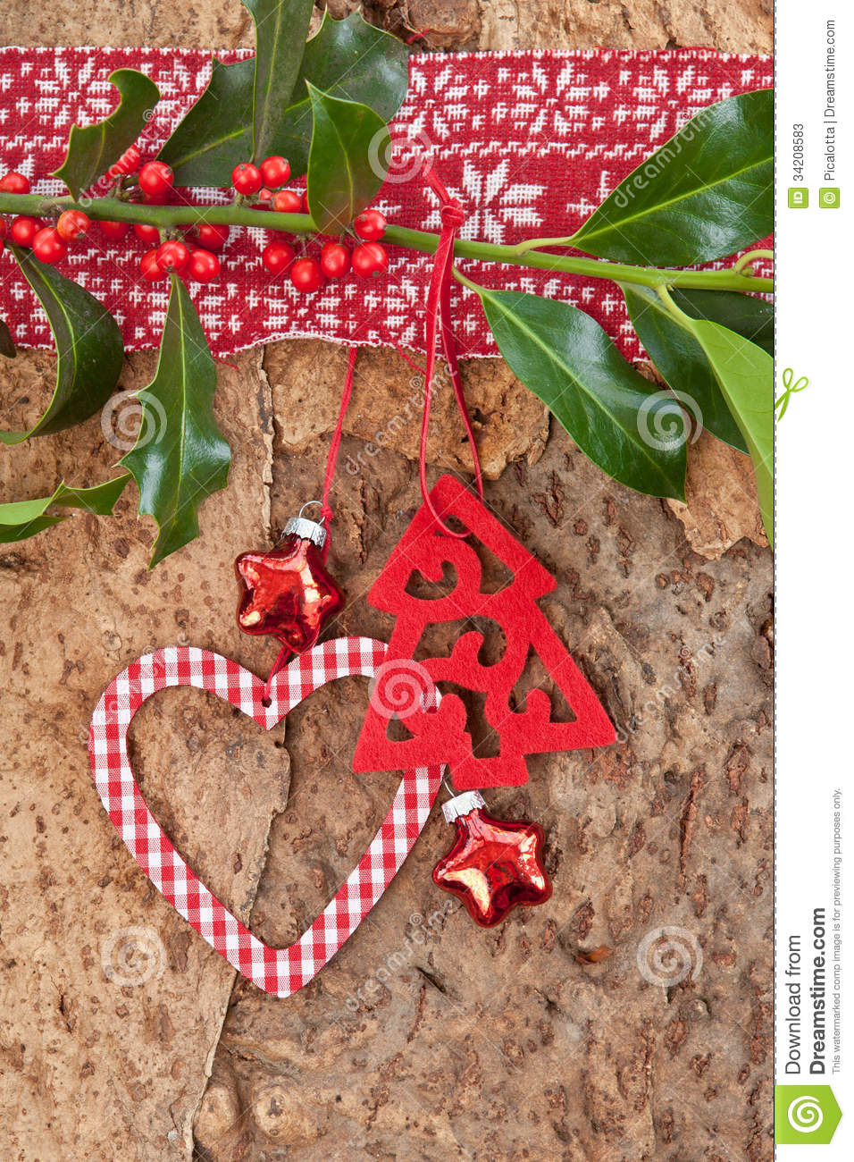 Rustic background for christmas stock photos image 34208583 for Vintage rustic christmas decorations