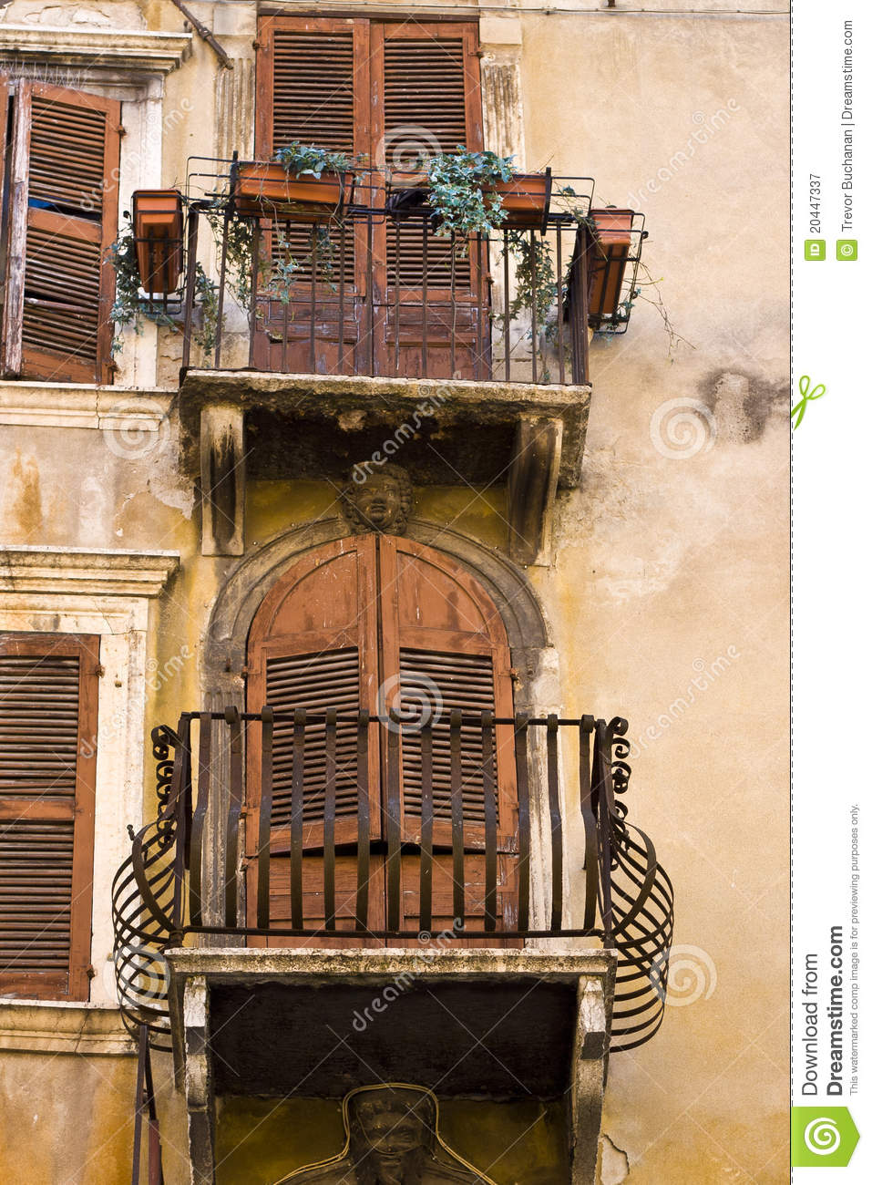 Rustic balcony stock image image of verona rusty italy for What is a balcony