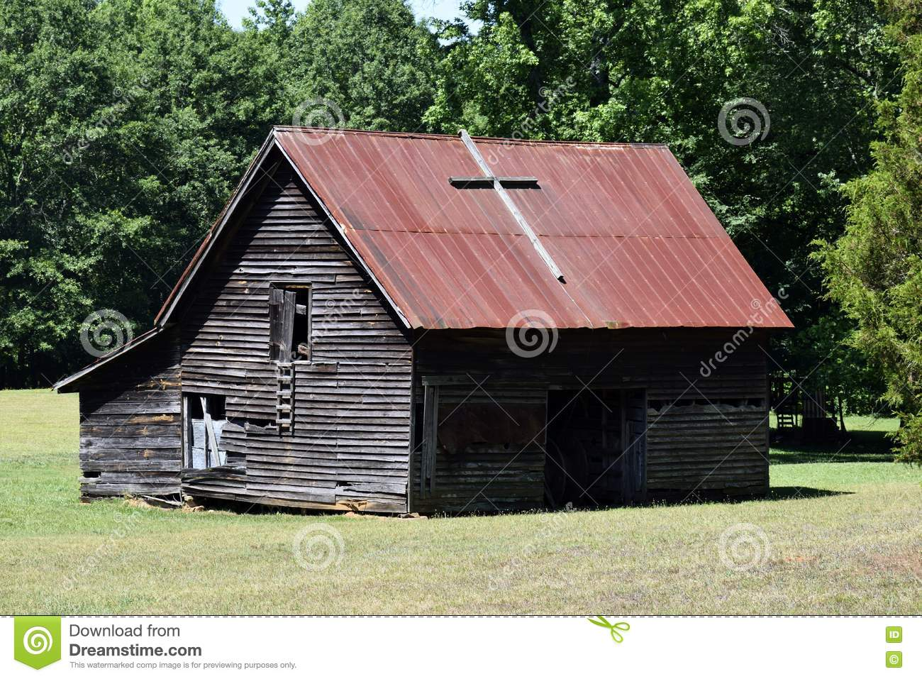 Rustic Barn With Corrugated Roof Stock Photo Image 72649700
