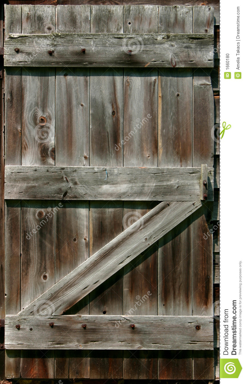 Rustic Barn Door Stock Photo Image 1660180