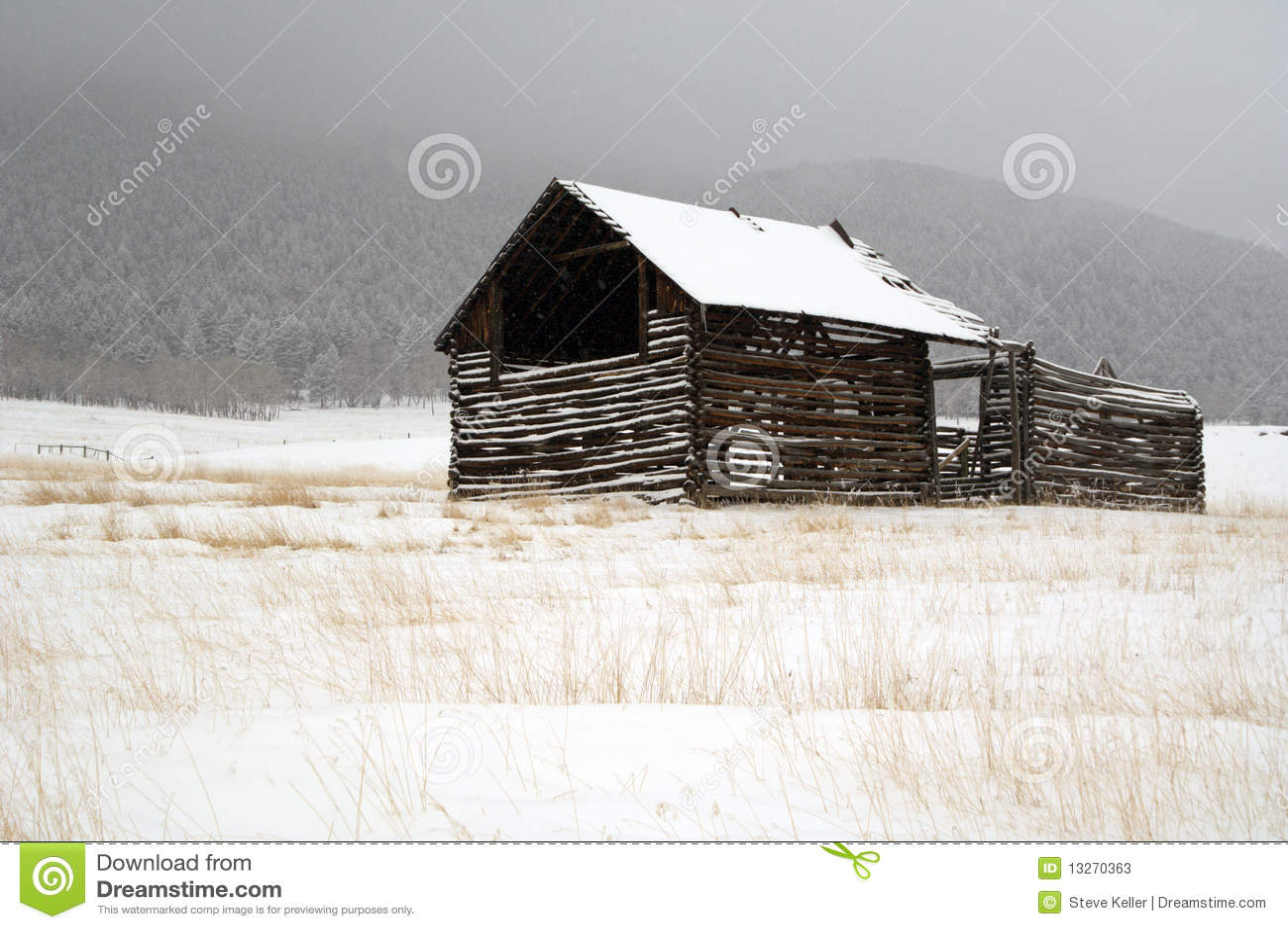 Rustic barn Evergreen