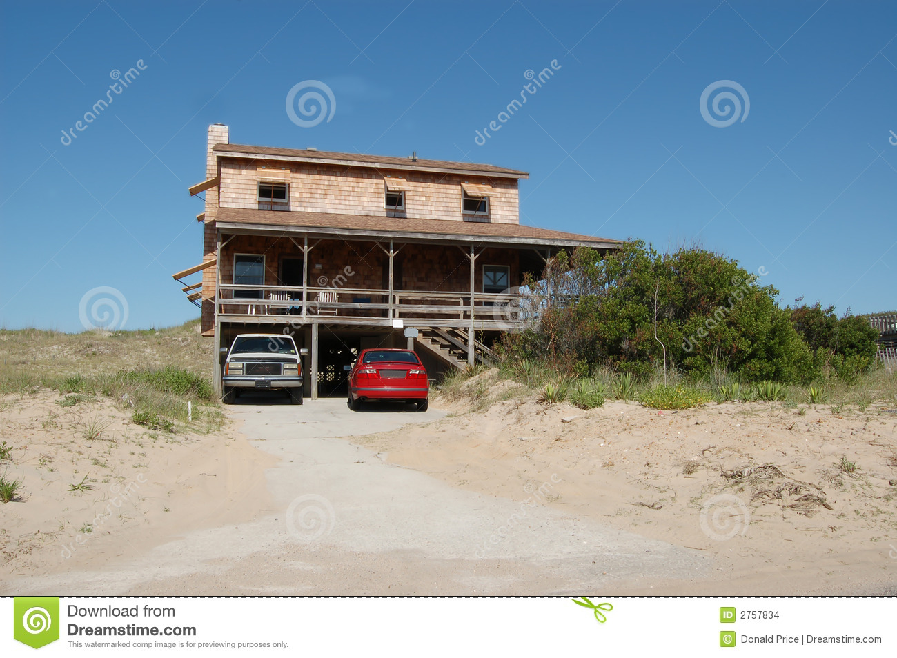 Rustic Beach House Stock Images Image 2757834