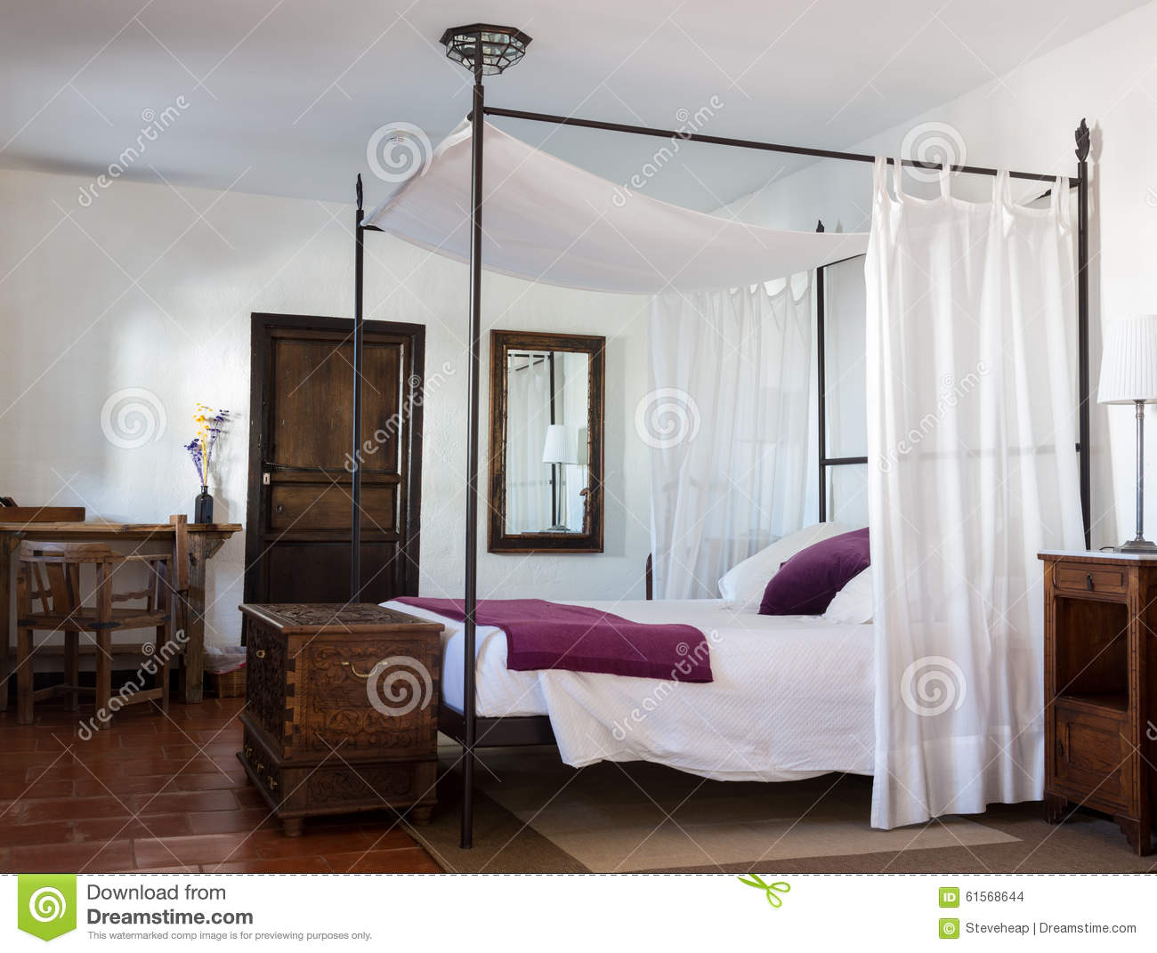 Rustic Bedroom In Luxury Hotel Stock Photo Image Of Hotel Europe 61568644