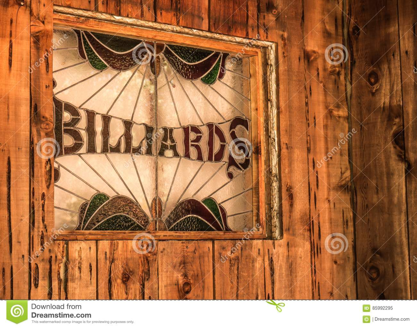Rustic Billiards Sign