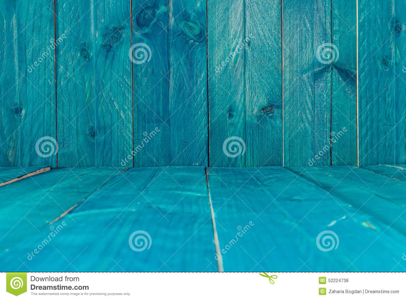 Rustic Blue Wood Background Stock Photo Image 52224738