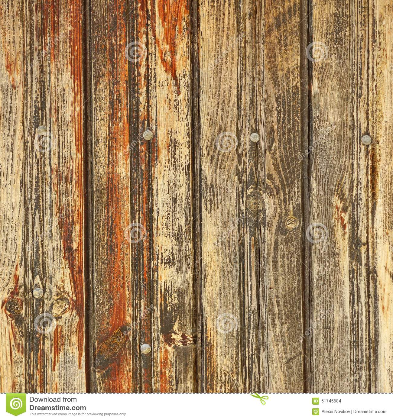 Wood Panel Background ~ Rustic brown weathered wood plank panel horizontal