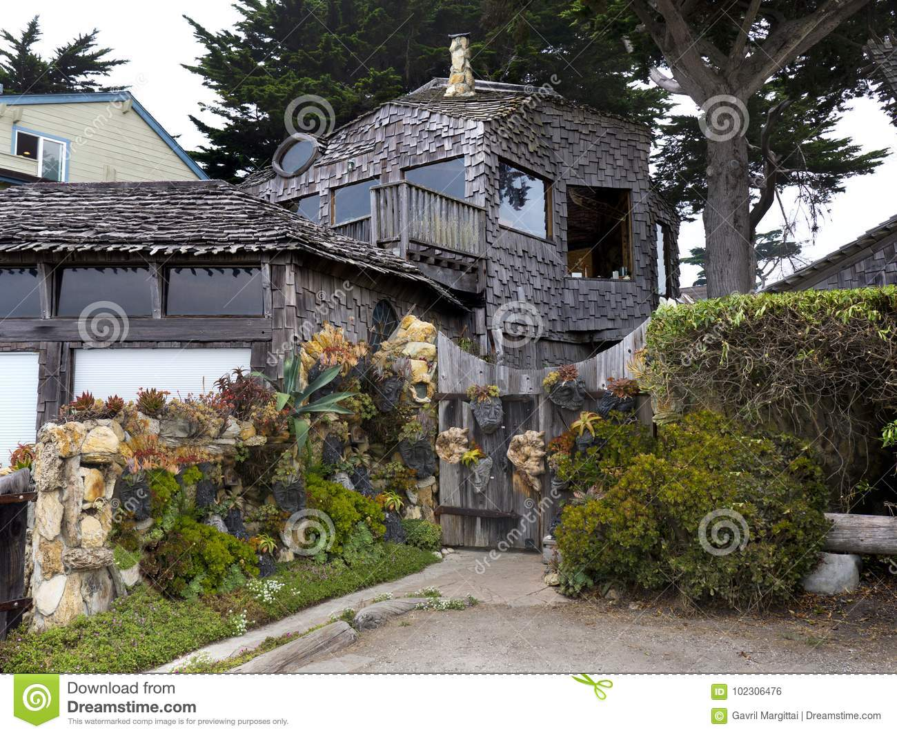 Rustic Bungalow At The Ocean Front Editorial Photo Image Of