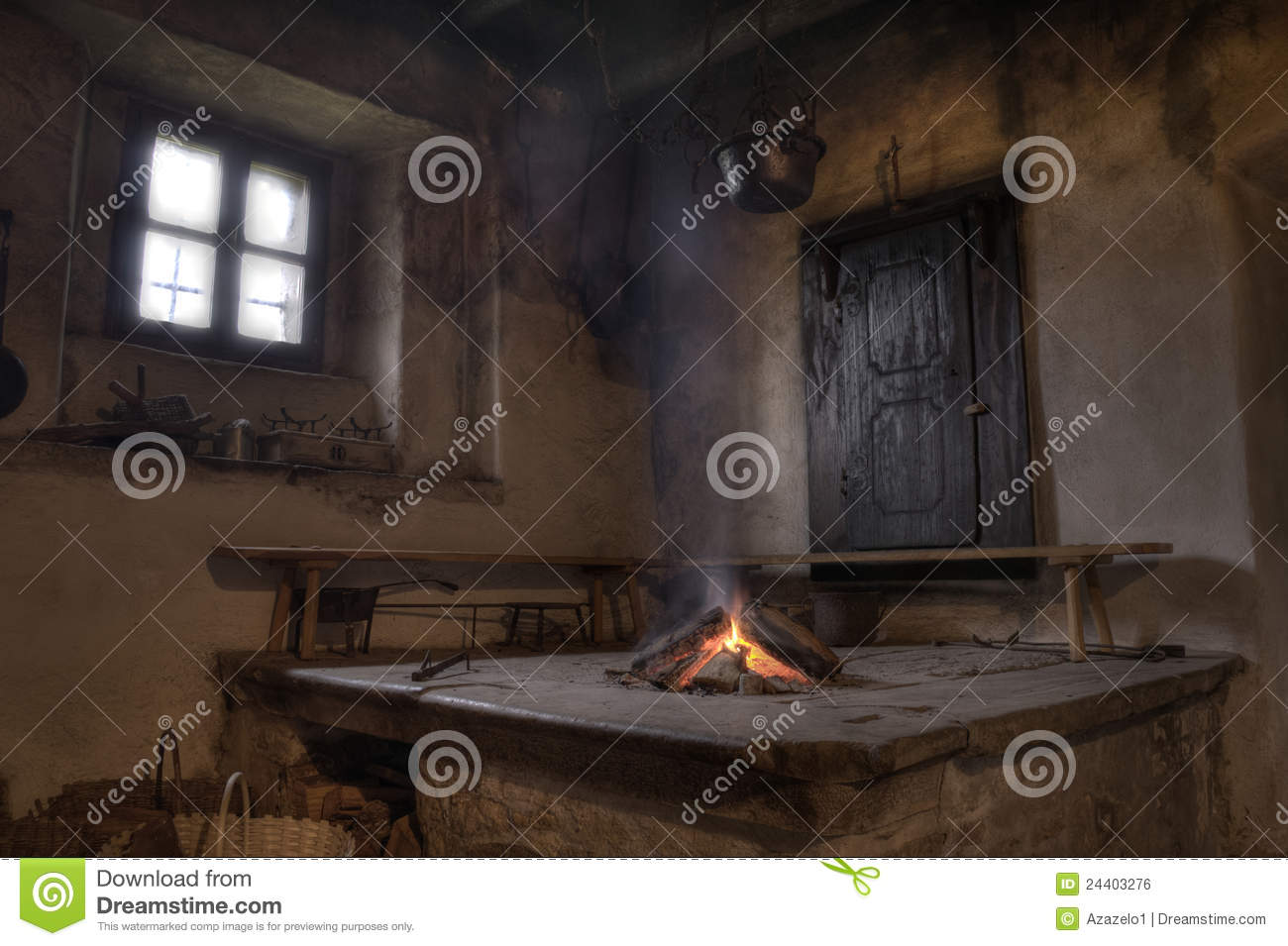 Cabin interior fireplace - Fireplace Rustic Pots Rural Window Inside