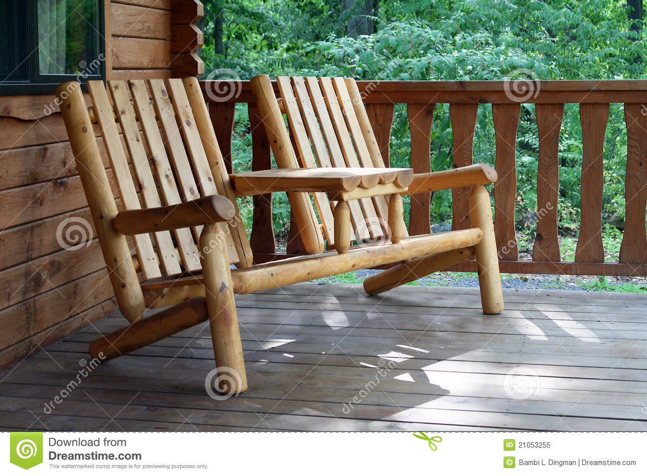 Rustic Camping Chair Stock Image Image Of Stock Brown