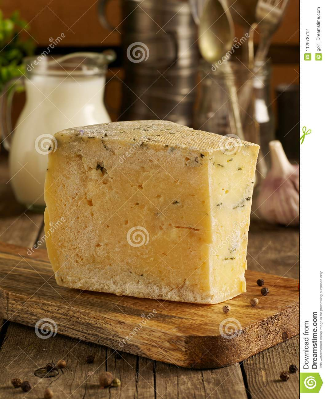 Rustic cheese from above