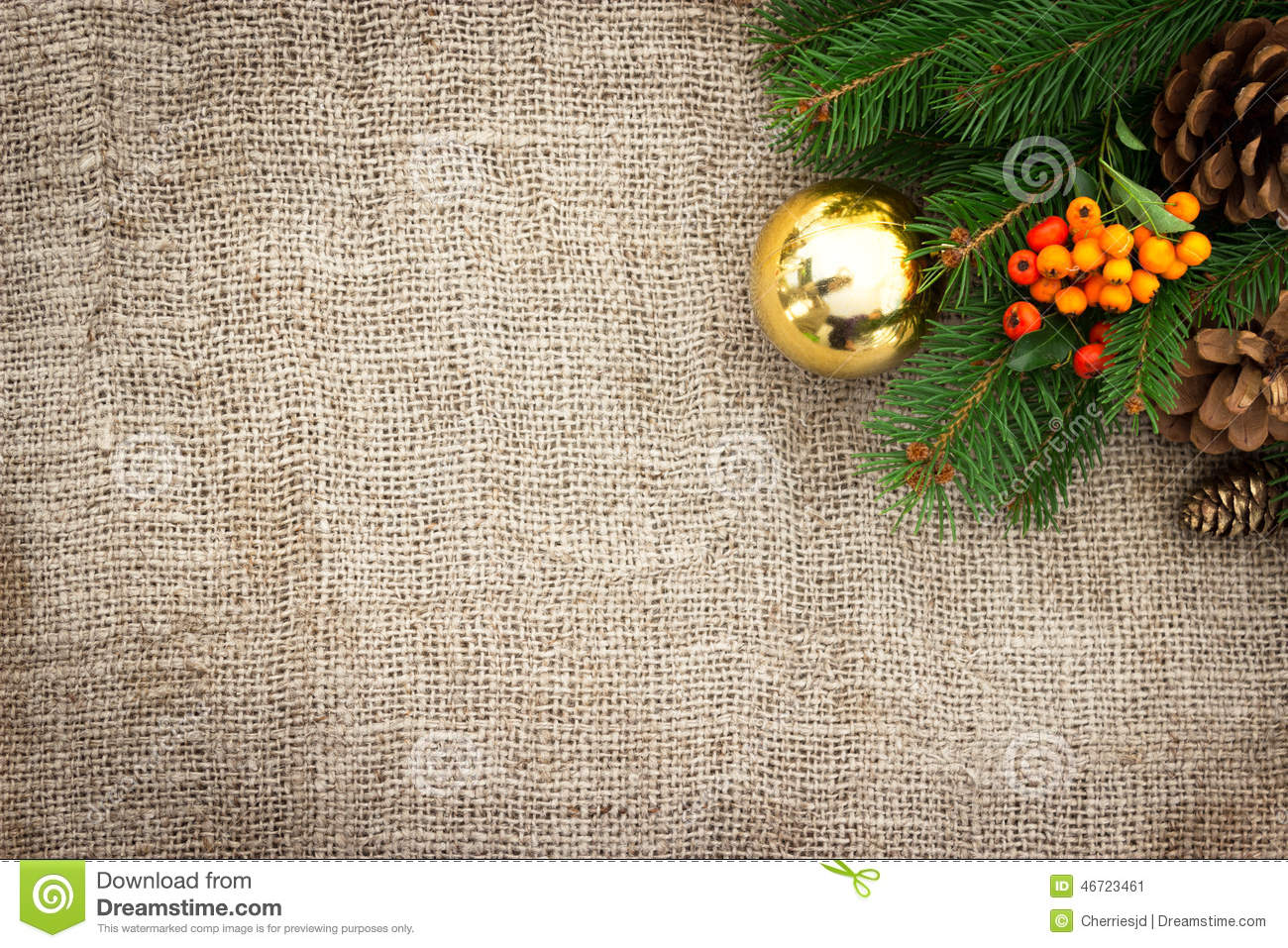 Rustic Christmas Background Stock Photo - Image: 46723461