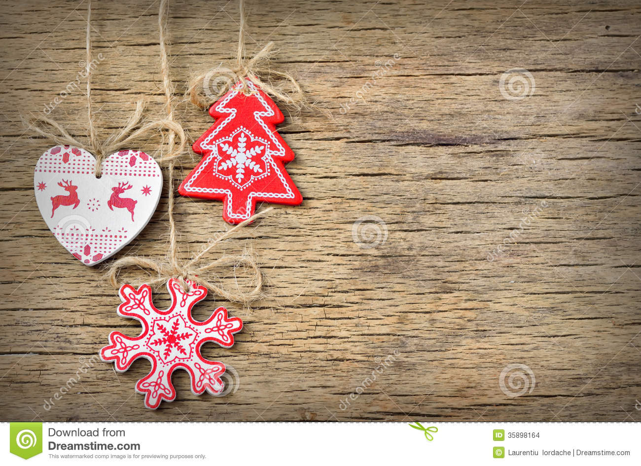 Rustic Christmas Decoration Stock Images - Image: 35898164