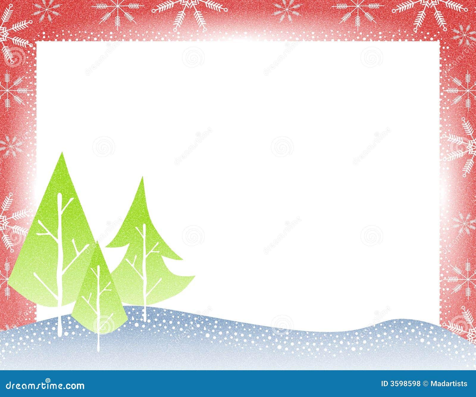 Rustic christmas tree border stock illustration