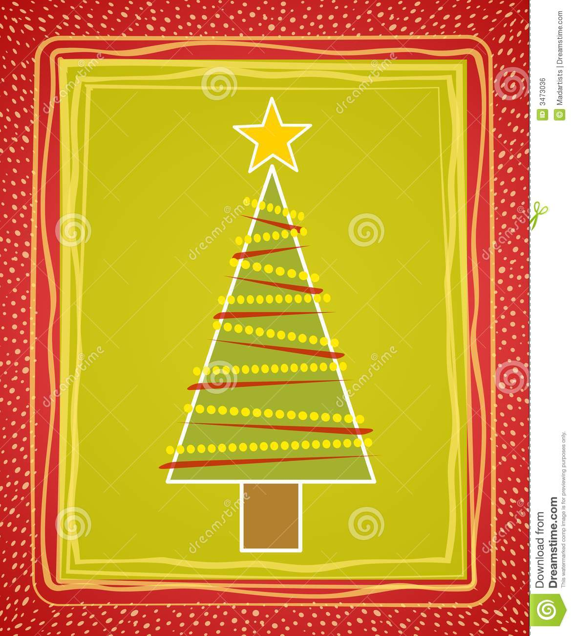 art card christmas clip illustration tree - Christmas Tree Card