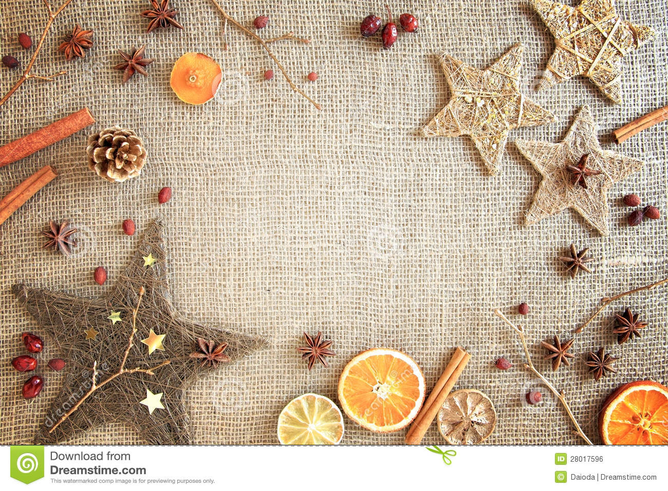 Rustic Christmas / Winter Border Royalty Free Stock Image - Image ...