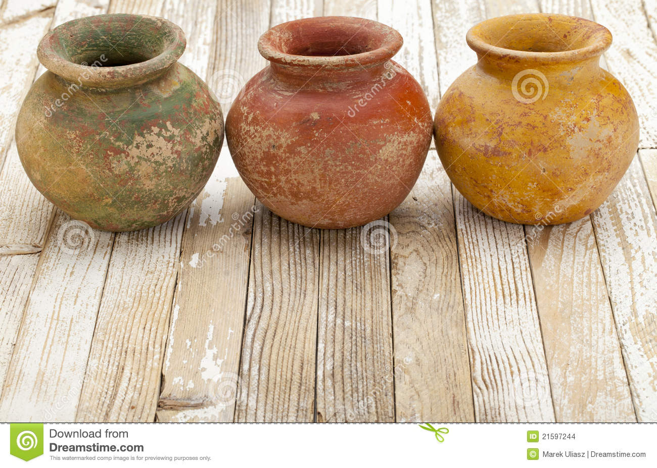 Rustic Clay Pots Stock Photo Image Of Ceramic Clay 21597244
