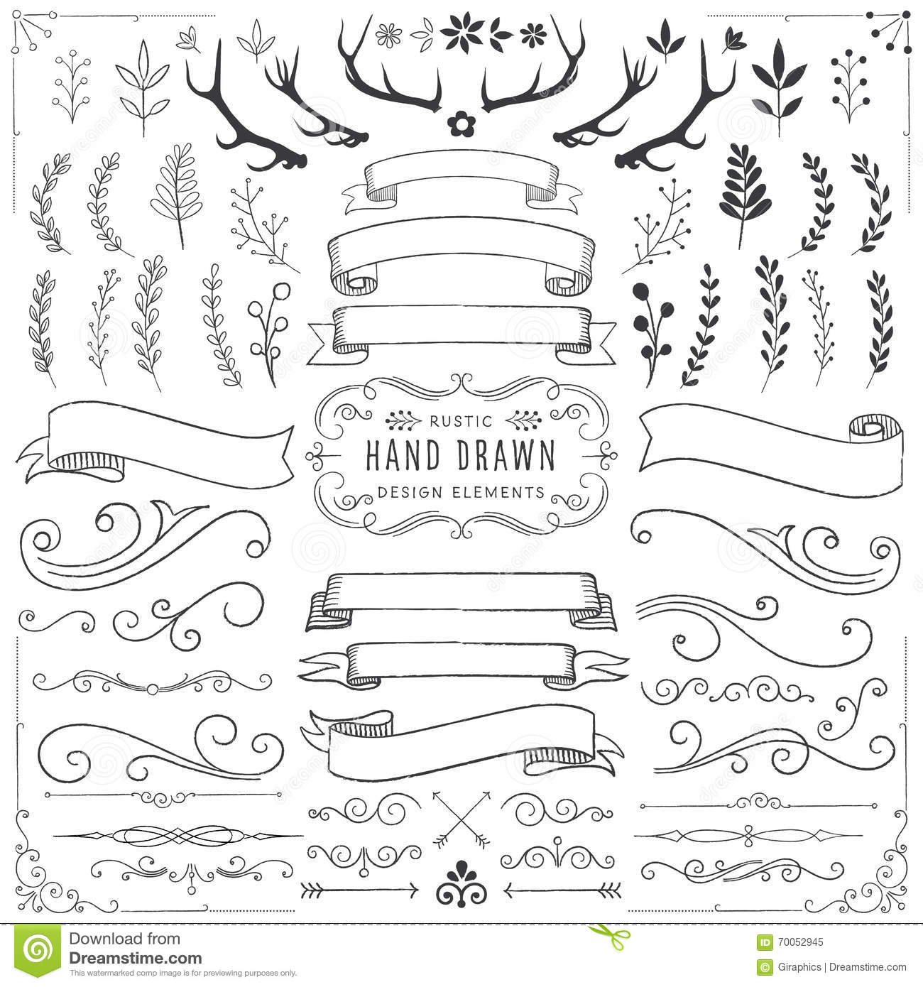Download Rustic Clipart Set Stock Vector Illustration Of Frame