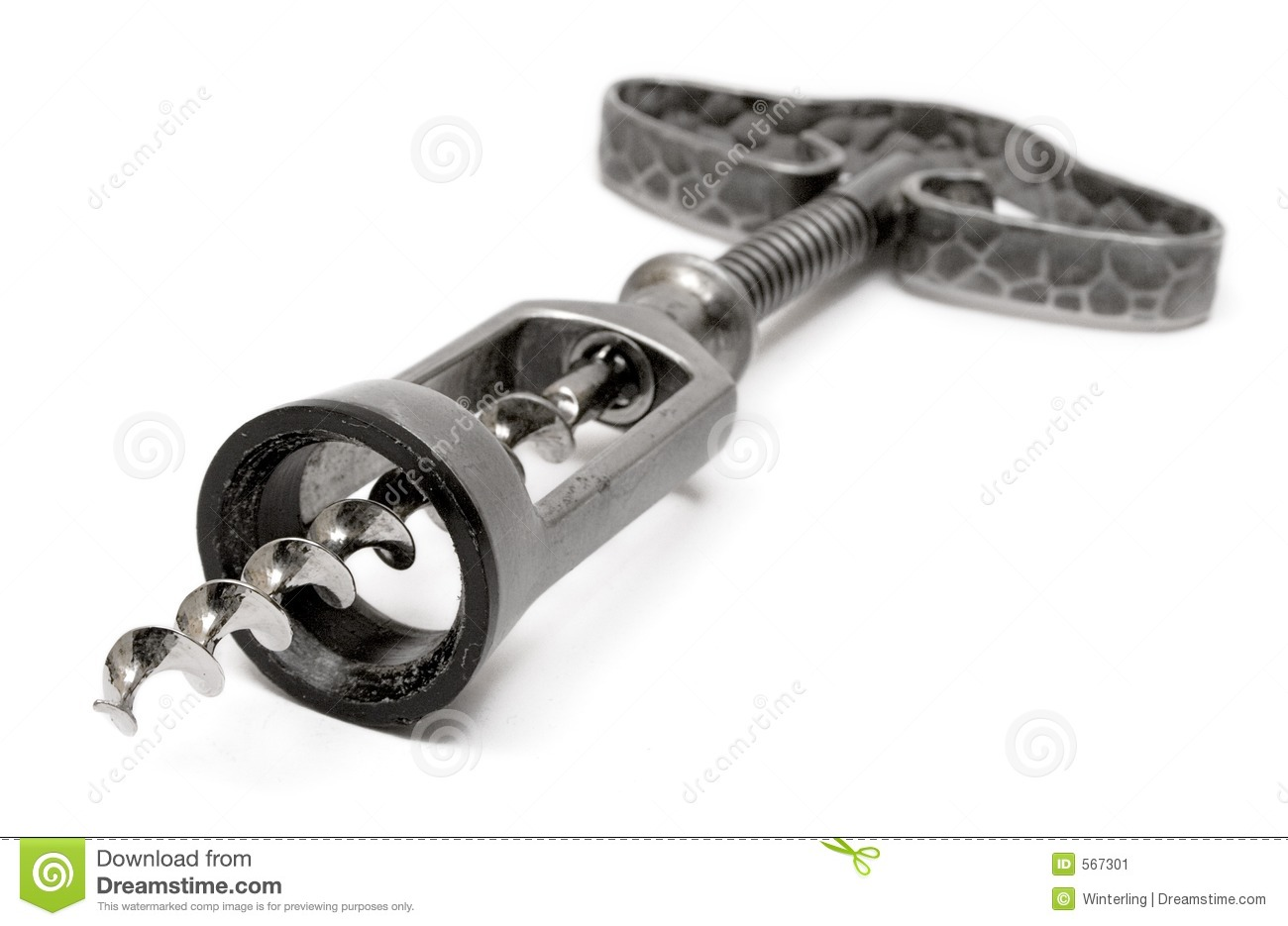 Rustic Corkscrew (Front.-Side View)