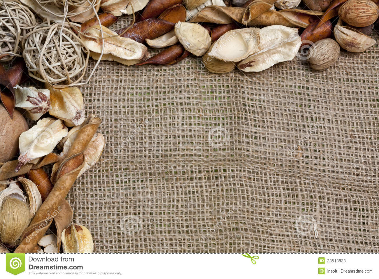 Rustic Country Burlap And More Background Stock Image