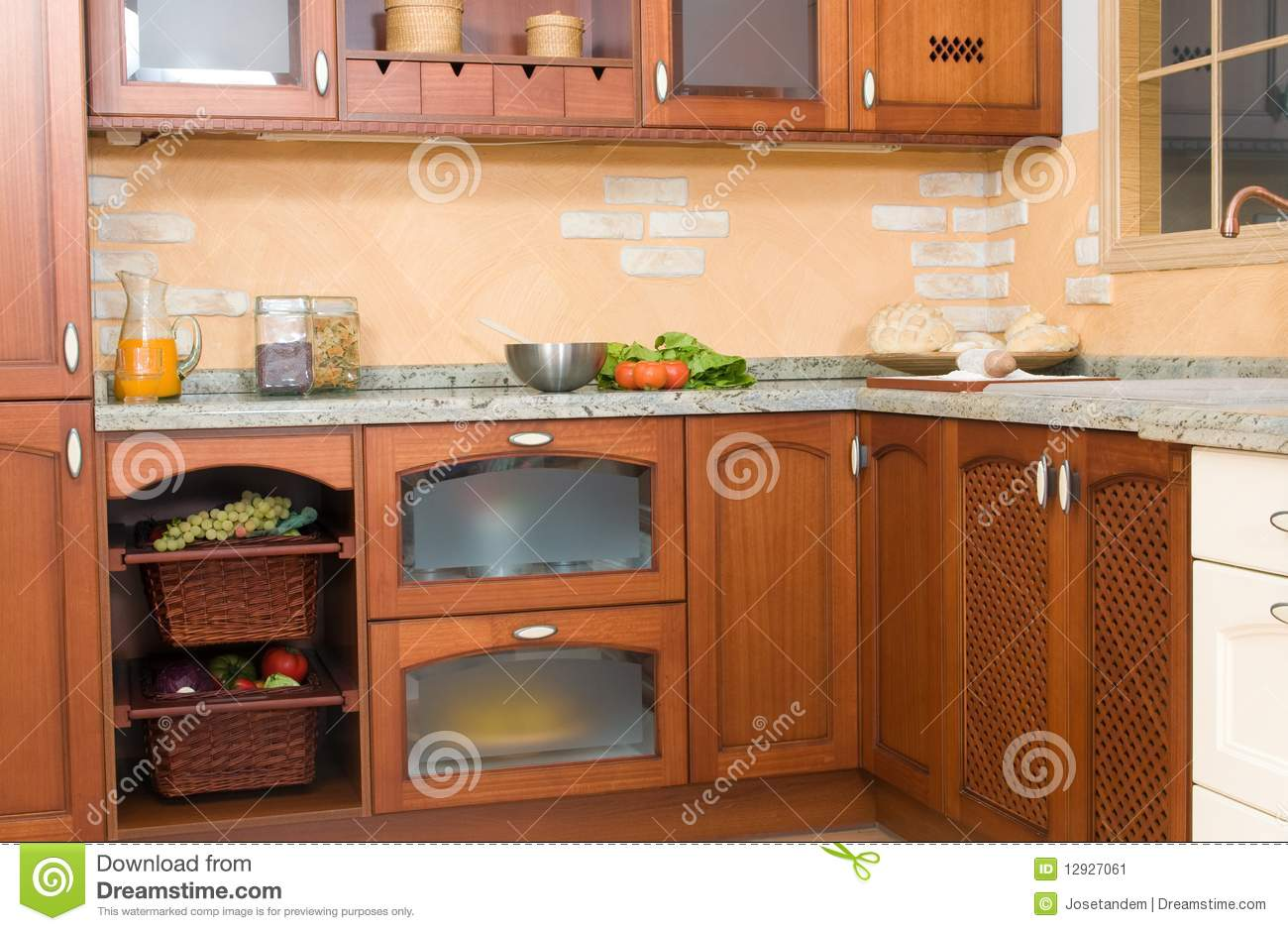 Rustic Looking Kitchens Rustic Or Country Style Kitchen Stock Photography Image 12927172