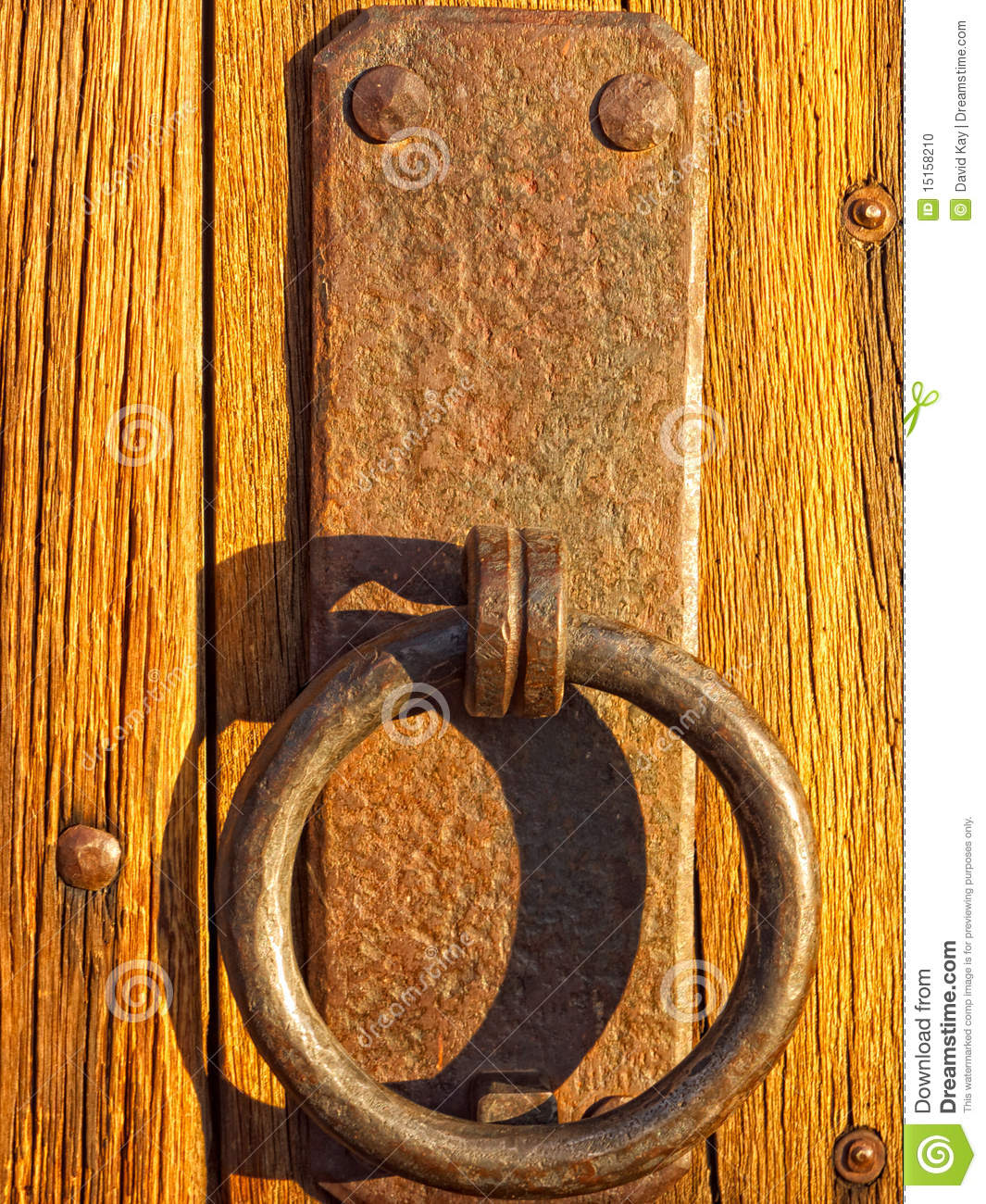 Rustic Door Handle Stock Photo Image 15158210