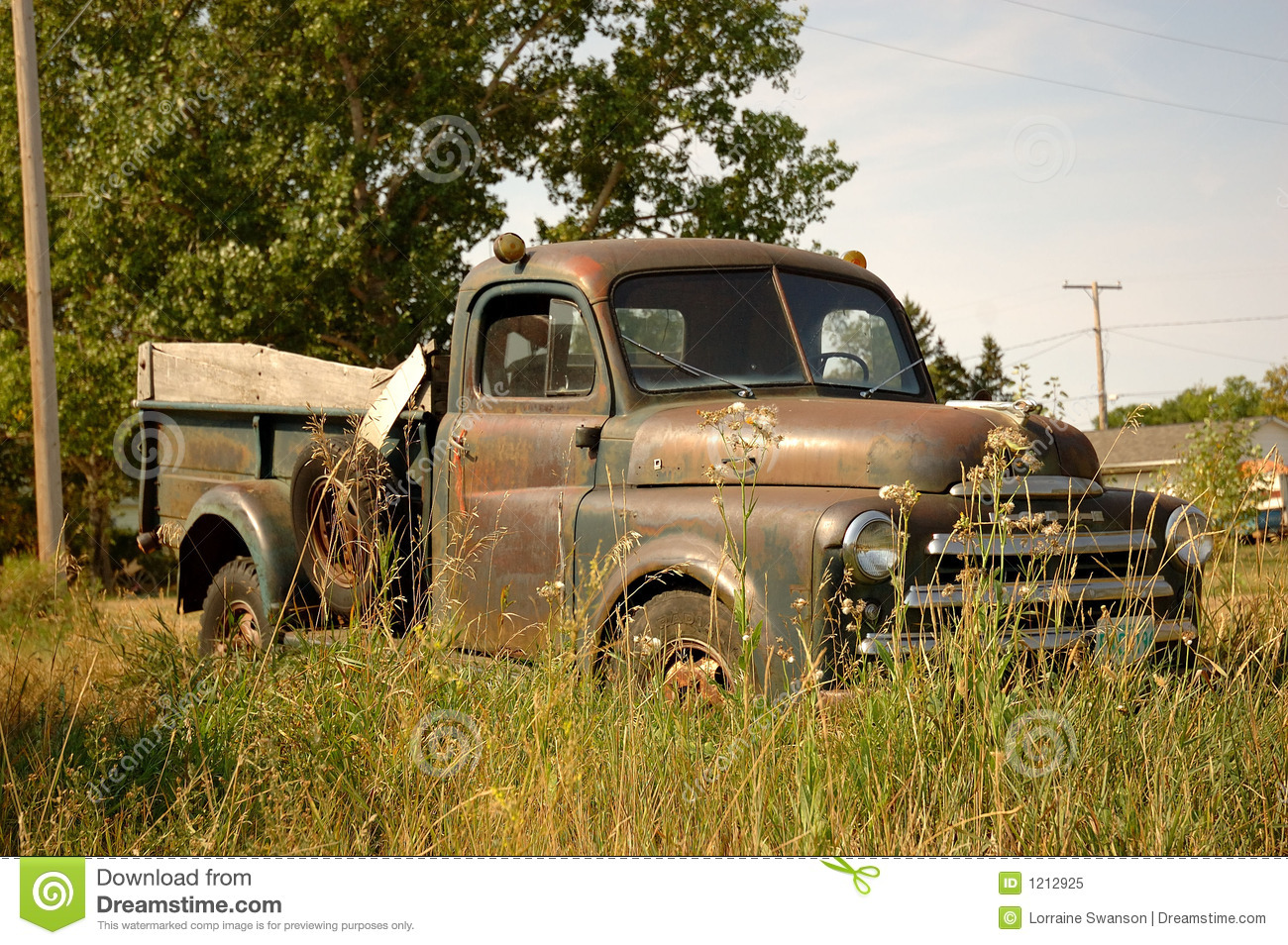 Rustic Farm Truck Stock Image Of Retro Manitoba