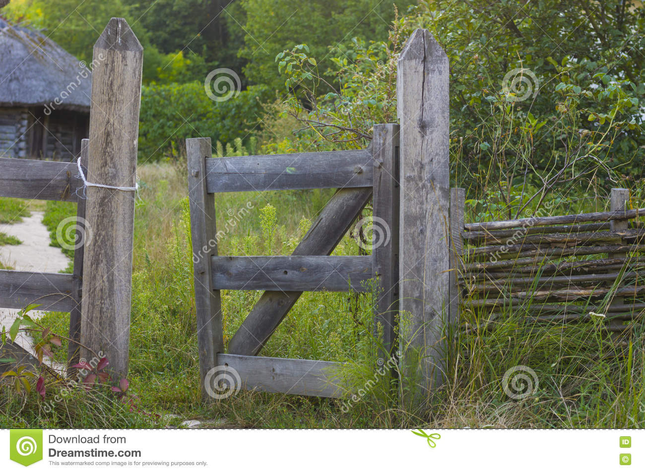 Rustic Fence Gate Stock Photo Image Of Weathered Outdoors