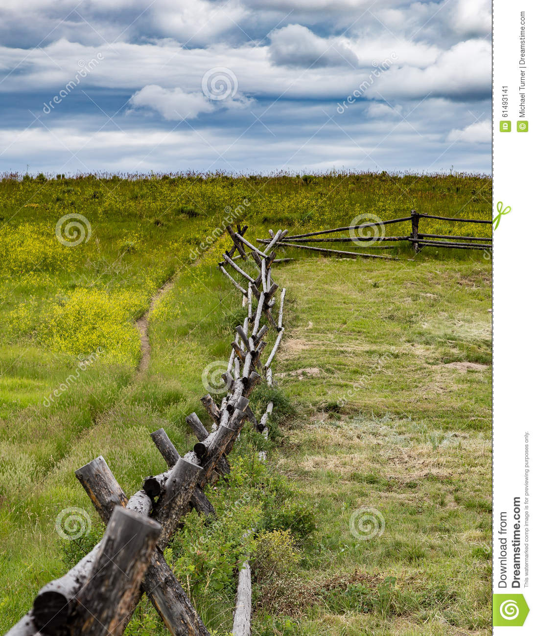 Rustic Fence in Wyoming