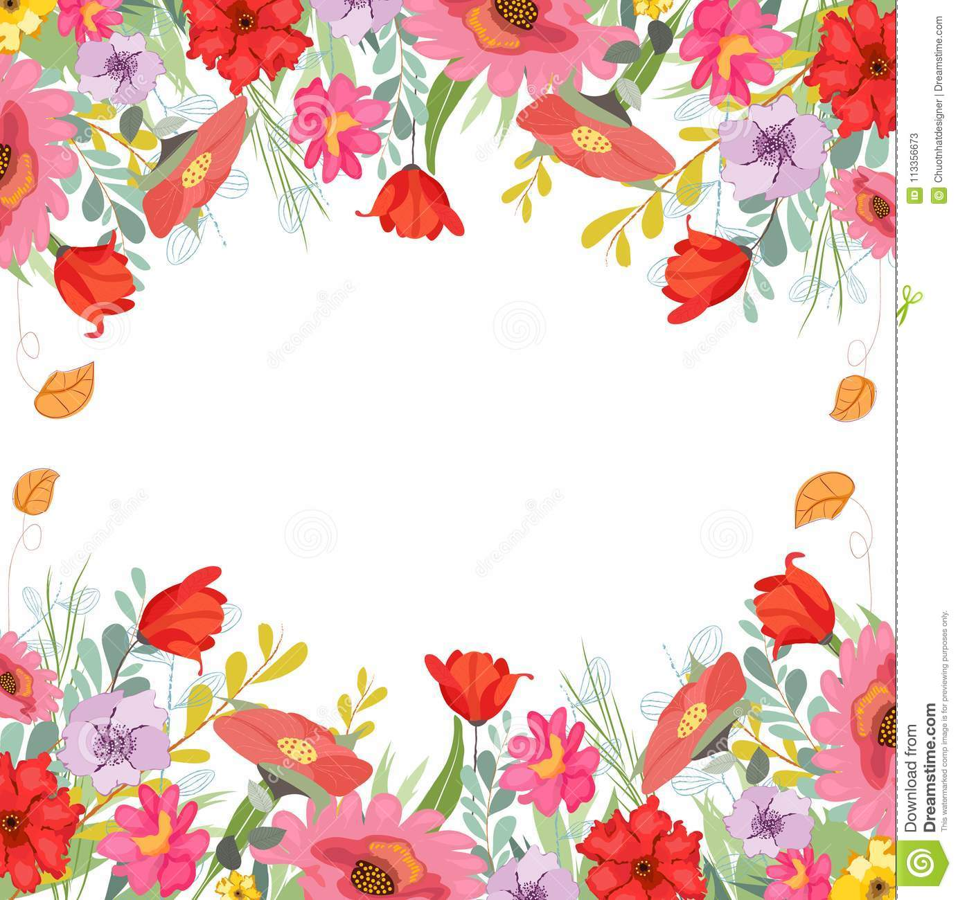 Rustic Floral Cliparts Pretty Flowers Wedding Stock Illustration