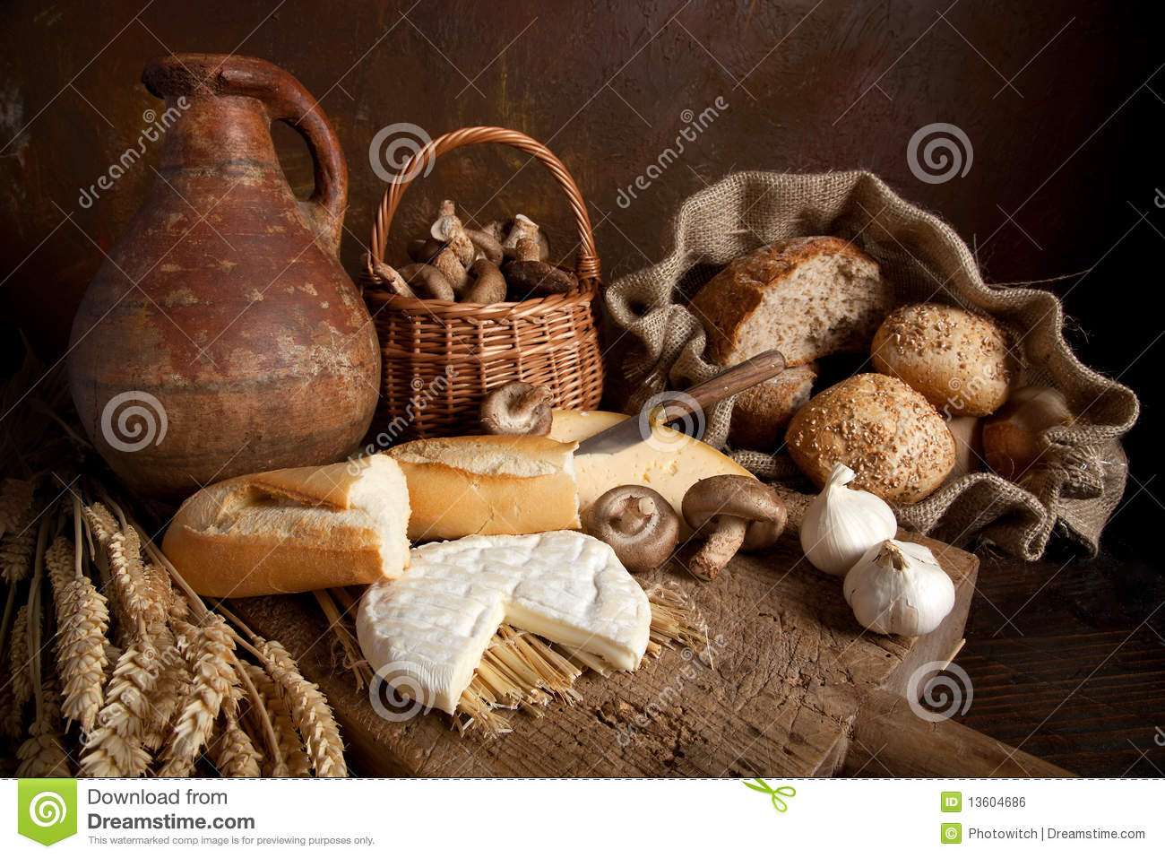 Rustic Food Stock Photo Image Of Country Assorted Loaf