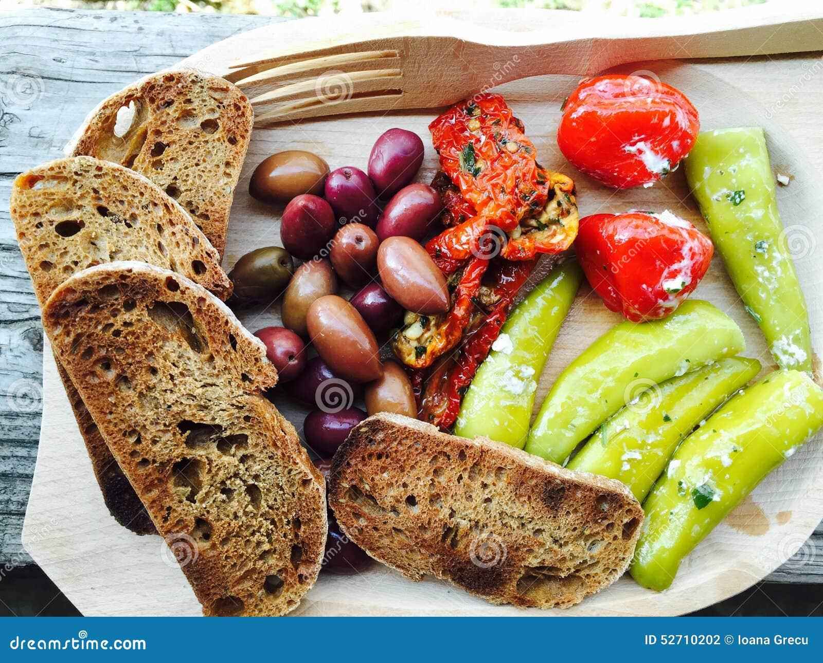 Rustic food plate