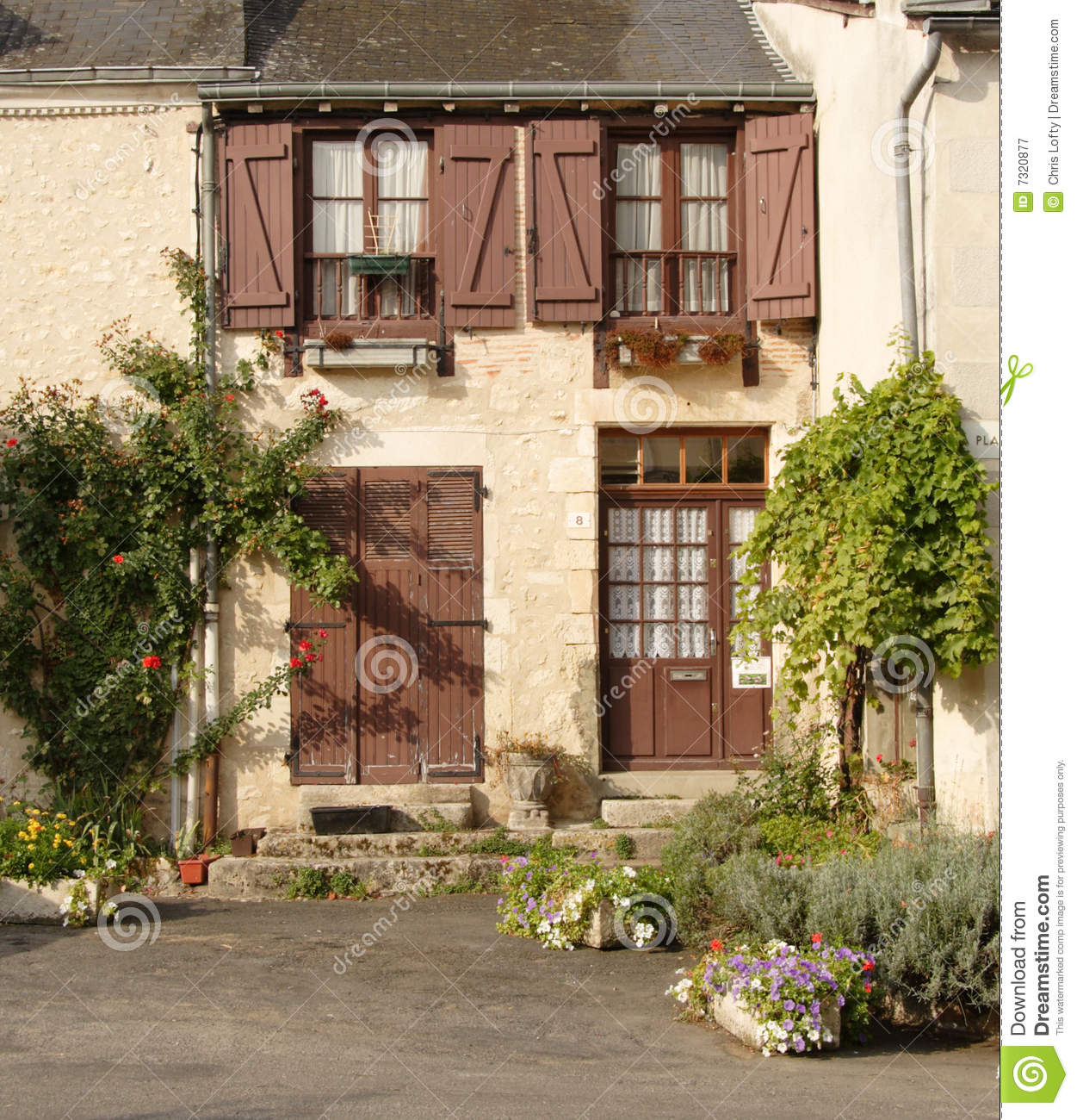 Country House Plans With Porches Rustic French Village House Royalty Free Stock Photography