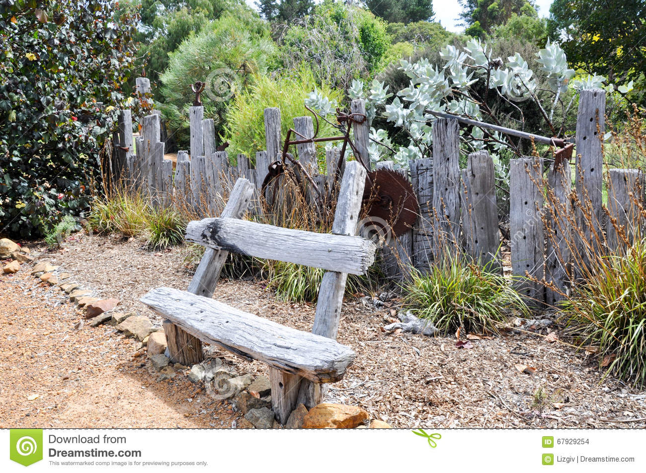 Rustic Garden Decor Editorial Stock Image Image 67929254