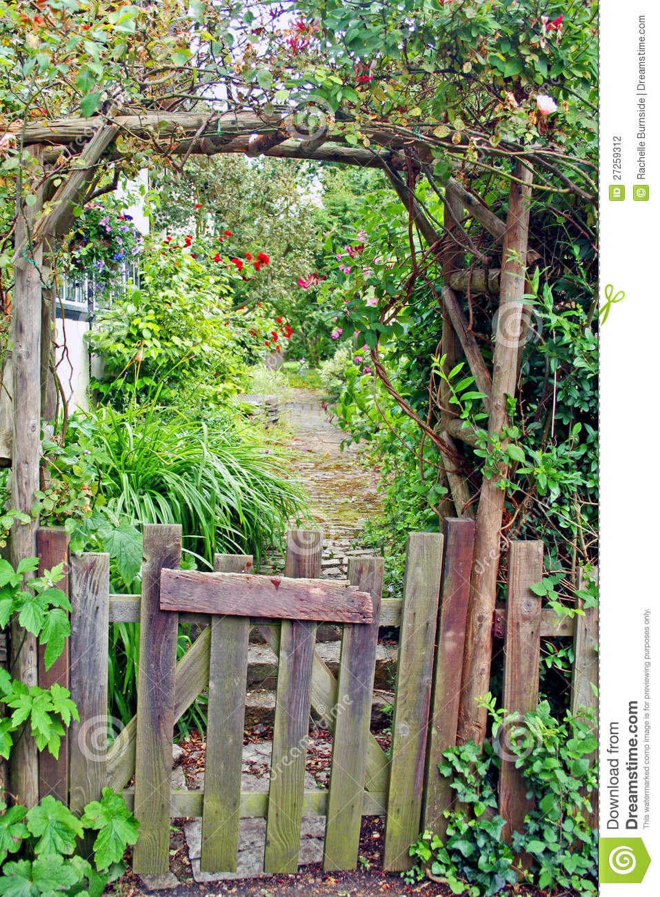Rustic Garden Gate Stock Photo Image Of Path European