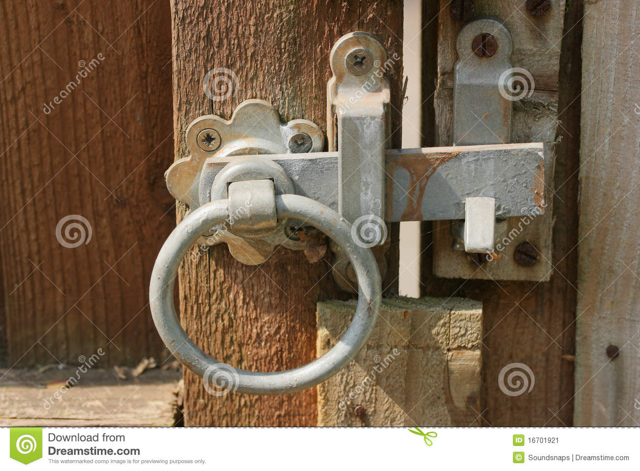 Rustic Garden Gate Latch Stock Image Image Of Close