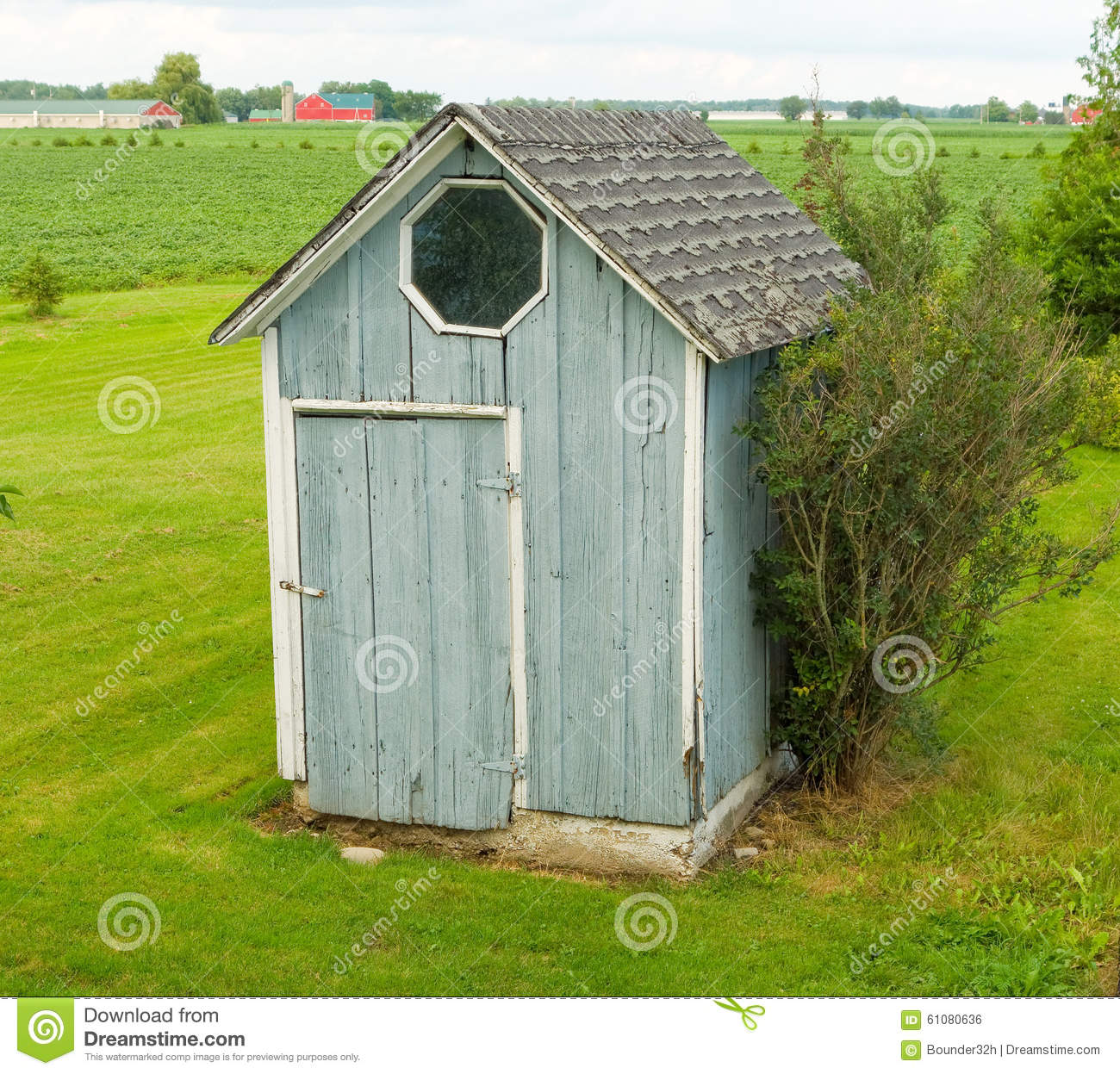 A rustic garden shed in the countryside stock photo for Small wooden structures