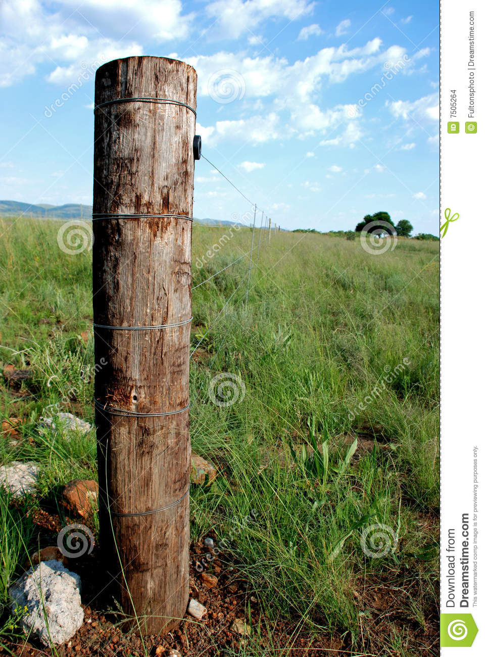 rustic gate post stock images