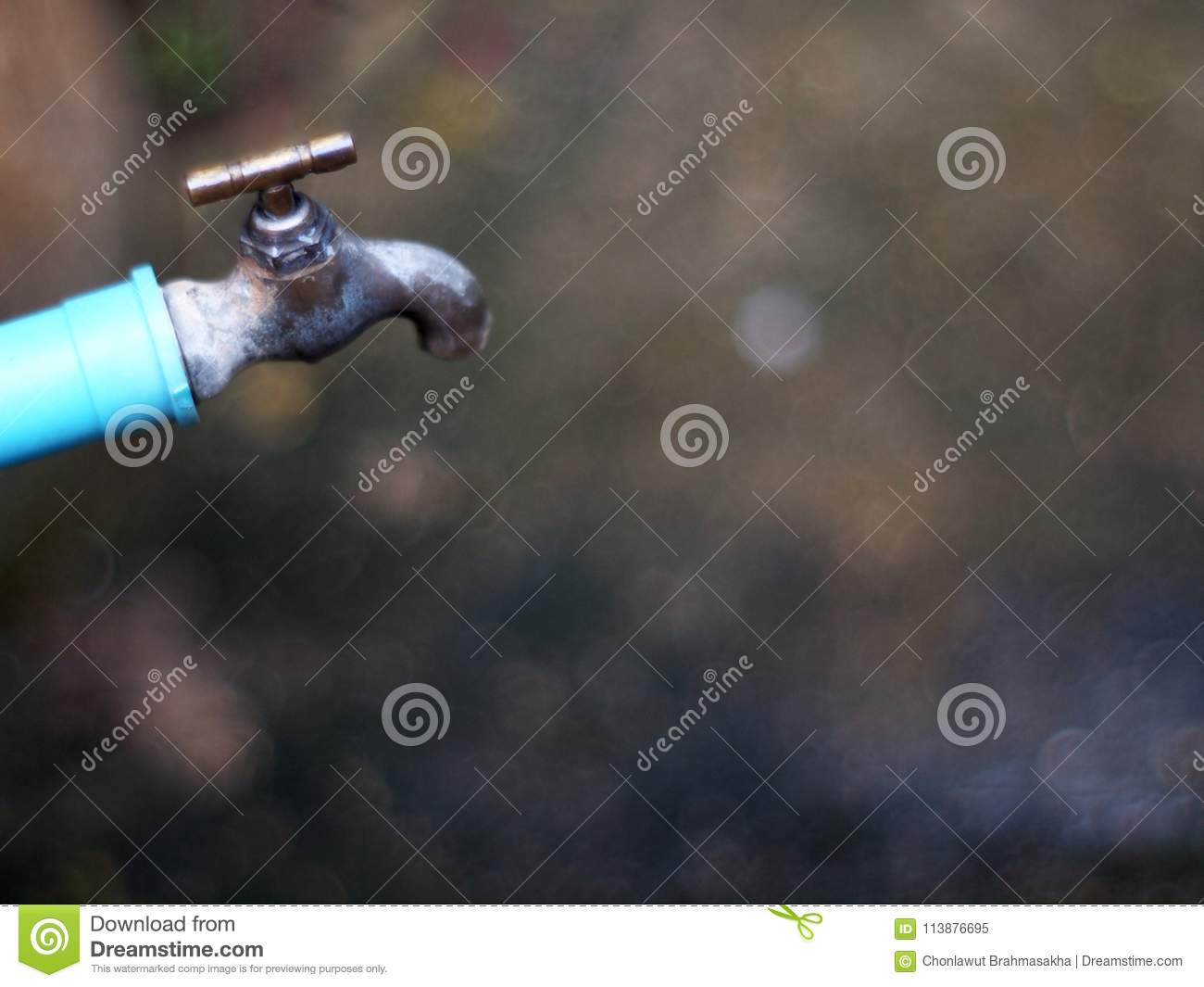 Rustic Grunge Weathered Outdoor Garden Use Water Faucet Stock Image ...